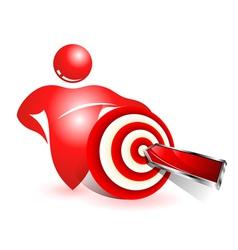 Social target icon vector image vector image