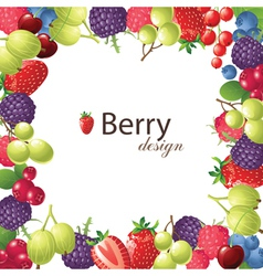berries frame for your designs vector image vector image
