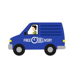 delivery van icon vector image