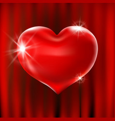 red heart celebration balloons glitters 3d design vector image