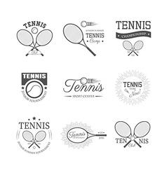 Set of tennis emblems vector image