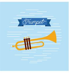 trumpet jazz instrument musical festival vector image