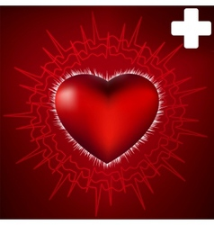 Abstract heart and ecg star eps 8 vector