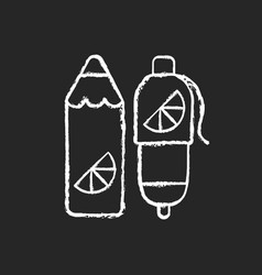 branded pens and pencils chalk white icon vector image