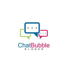 chat bubble logo vector image