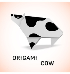 Cow origami vector image