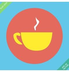 Cup mug of hot drink coffee tea vector image