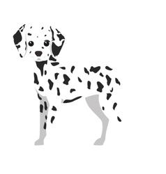 Dalmatian dog cartoon vector