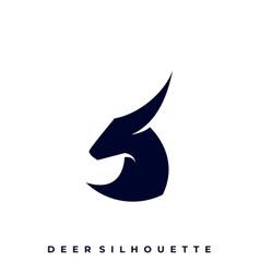 deer silhouette design template vector image