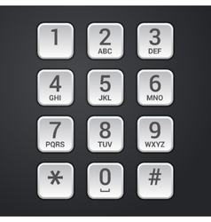 digital dial plate security lock or telephone vector image