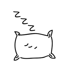 Drawing pillow isolated icon design vector