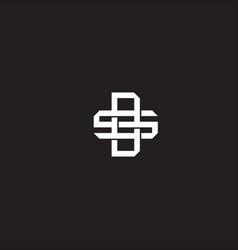 Ds initial letter overlapping interlock logo vector