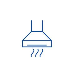 extractorcooker hood line icon concept extractor vector image