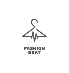 fashion beat logo vector image