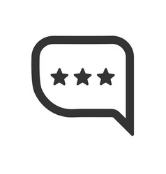 Feedback rating icon vector