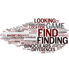 Findings word cloud concept vector