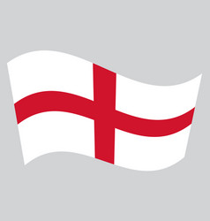 flag of england waving on gray background vector image