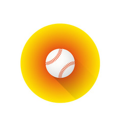 flat color baseball ball vector image