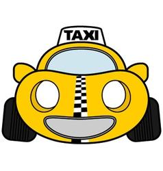 Funny taxi car vector