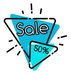 geometric poster sale 50 percent discount vector image