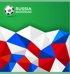 Geometric soccer background russia 2018 flag vector