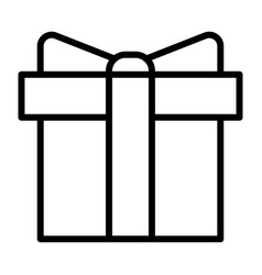 Gift box pixel perfect thin line icon 48x48 vector