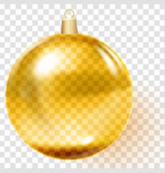 Golden christmas ball gold christmas tree toy vector