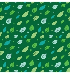 Green Painted Leaves Stars Diagonal vector
