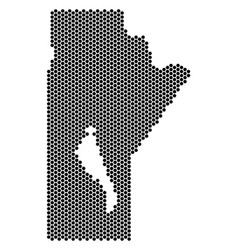 Hexagon manitoba province map vector