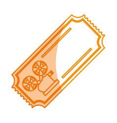 ilhouette tickets to cinema movie entertainment vector image