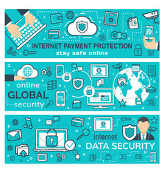Internet payment and secure web transaction vector