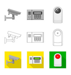 Isolated object of office and house symbol vector