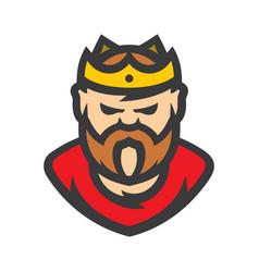king cartoon vector image