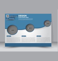 Landscape billboard flyer template vector
