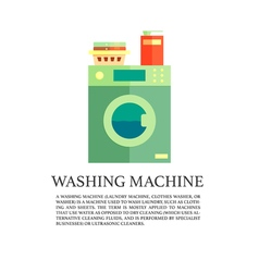 Laundry service advertising poster logo with vector image