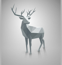 low poly deer with space for text vector image