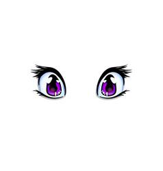 Manga anime lilac eyes for creation cartoon vector