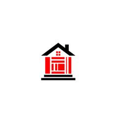 mosaic house logo vector image