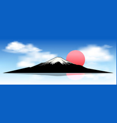 mount fuji at dawn vector image