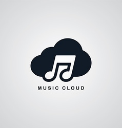 music song cloud theme vector image