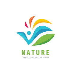 Nature people concept design abstract human vector