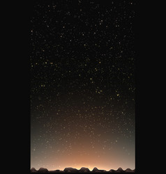 night sky with stars abstract vector image