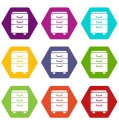 Office closet icons set 9 vector