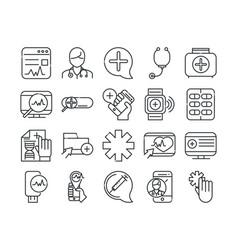online health medical assistance support vector image