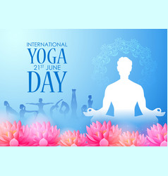 People doing asana and meditation practice vector