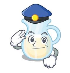 Police natural milk jug in a cartoon vector