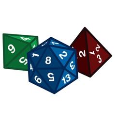 Polyhedral dice vector