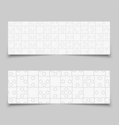 puzzle jigsaw cards flyers or brochures vector image
