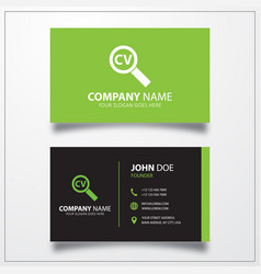 Resume search icon business card template vector