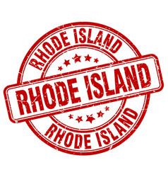 Rhode island red grunge round vintage rubber stamp vector